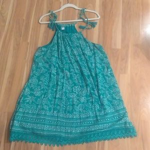 Green summer dress/cover-up